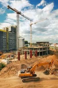 Byggnadsställningar i Stockholm